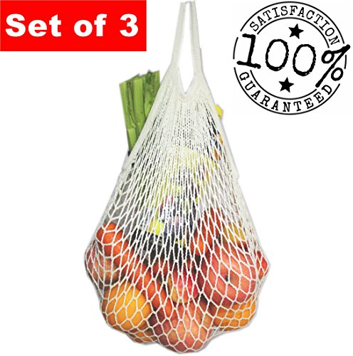 ECOHIP Reusable Grocery Bags – Produce Bags - Beach Bags – Mesh Bags Set of 3