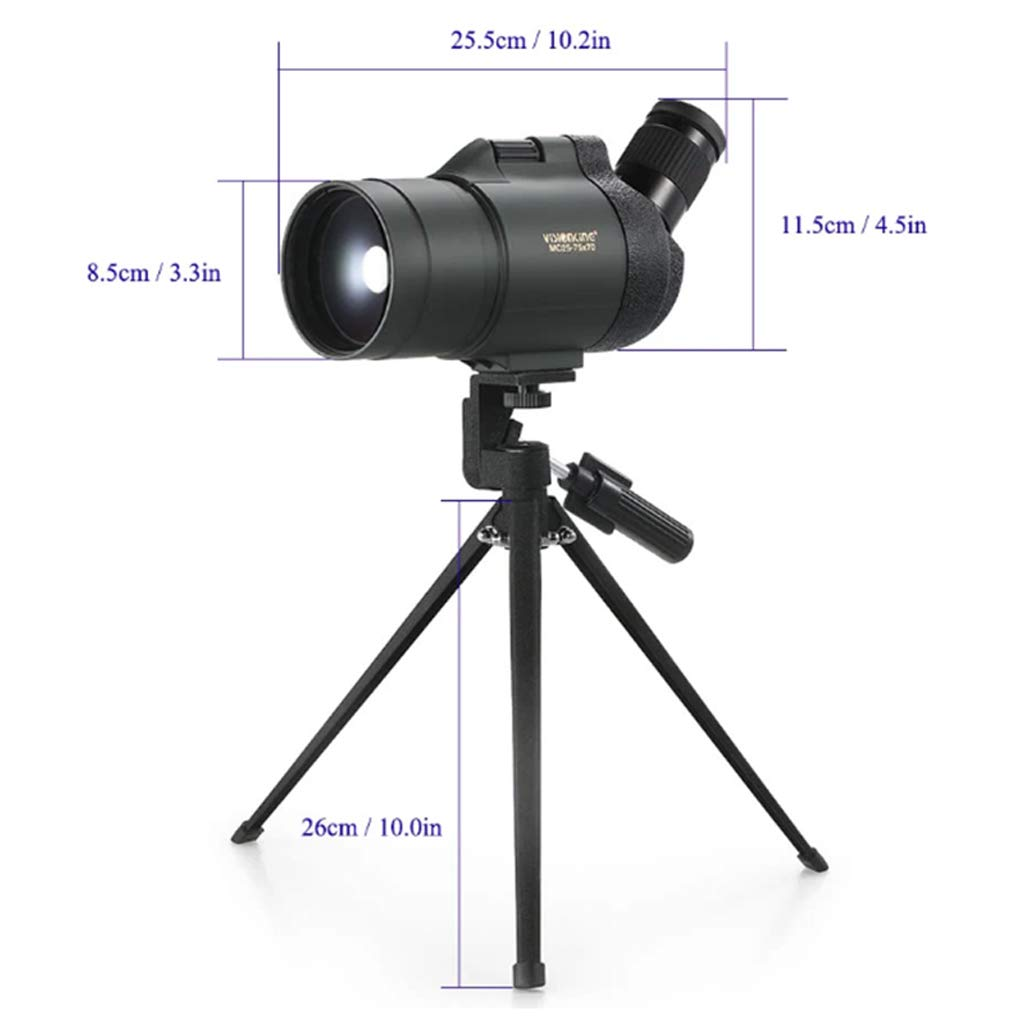 Science Learning & Education YJXJJD 25-75X70 Maca Zoom Telescope Viewfinder High-Definition Night Vision Outdoor Bird Mirror 70 Caliber Standard