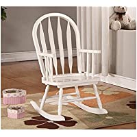Monarch Specialties Arrow Back Juvenile Rocking Chair, White
