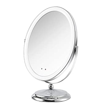 Small Lighted Makeup Mirror.Soobuy Lighted Makeup Mirror With Motion Sensor On Off Rechargeable Double Sided 1x Vanity Mirror With Light With A Small 5x Magnification Cosmetic