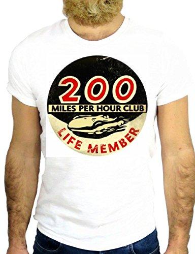T SHIRT JODE Z2136 FAST CAR LOGO AMERICA MILES FUNNY COOL FASHION NICE GGG24 BIANCA - WHITE S