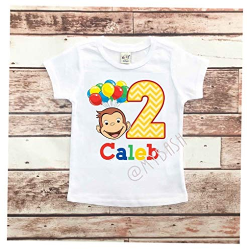 Personalize George Birthday T-Shirt - Birthday Outfit - w/Name & Age -