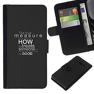 All Phone Most Case / Oferta Especial Cáscara Funda de cuero Monedero Cubierta de proteccion Caso / Wallet Case for Samsung Galaxy A3 // The True Measure Deep Message