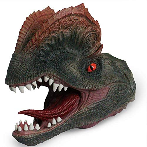 Kala-Kala Double Crown Dinosaur Hand Puppet Soft Rubber Realistic Spines Dragon Dinosaur Toy for Kids's Party Favors Supplies ()