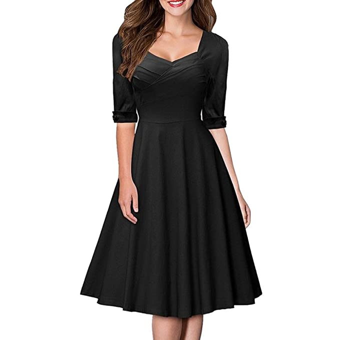 RoseGal - Vestido vintage (estilo de los años 40) con cuello de