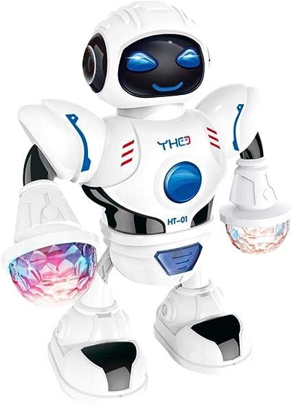 Giocattolo Robot Elettrico per Bambini, Mini Robot Educativo Ballerino Luce LED Musica Danza Robot Regalo del Bambino (Senza Batteria)