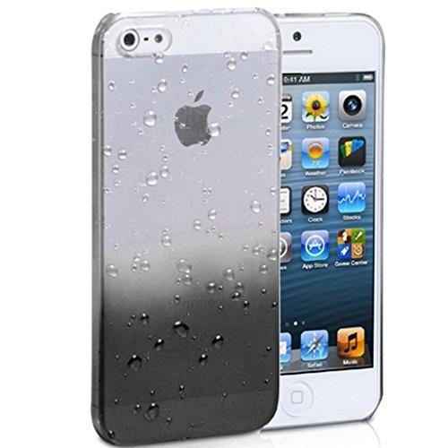 Mobile Case Mate iPhone 4 4s Coque couverture Case Cover clair and noir Goutte de pluie Goutte d'eau avec Stylet