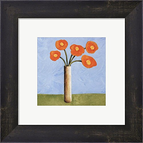 Marmalade Bouquet I by Jocelyne Anderson-Tapp Framed Art Print Wall Picture, Espresso Brown Frame, 10 x 10 inches