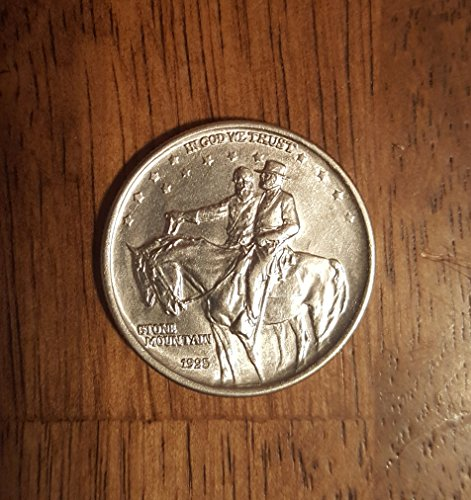 1925 Stone Mountain Commemorative Silver Half Dollar Coin Half Dollar Almost Uncirculated