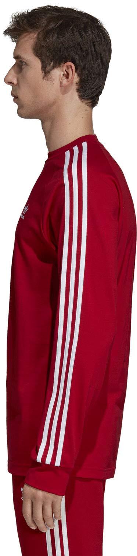 adidas Mens 3-stripes Long Sleeve Sweatshirt