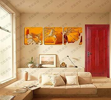 JWQT Pegatinas de pared Arte abstracto, espejo tridimensional ...