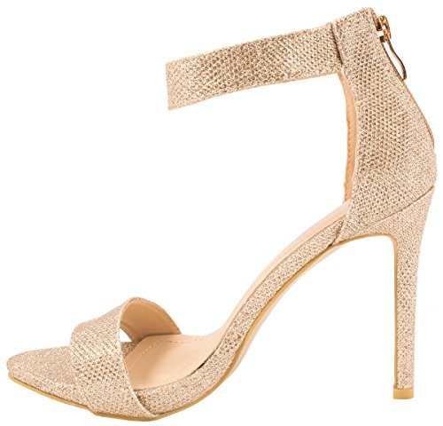 Elara - Tira de tobillo Mujer dorado
