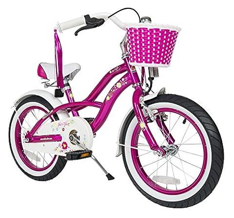 Bikestar 16 Inch (40.6cm) Kids Childrens Bike Bicycle - Cruiser - Lilac / Purple
