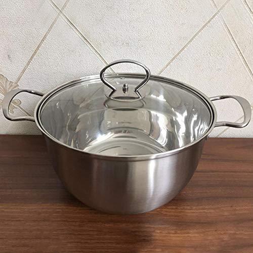 Olla de Sopa de Acero Inoxidable con Tapa de Vidrio Olla de ...