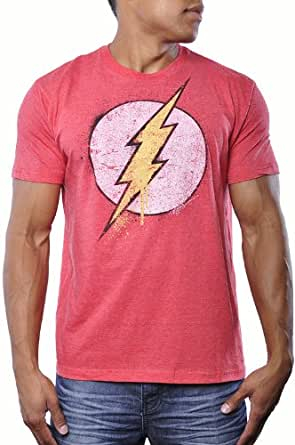 Bioworld the flash dc comics mens vintage for Retro superhero t shirts