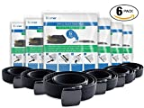 Travel Space Saver Bags & Money Security Belt 6 PACK bundle. Includes 6 belts & 6 packs of compression bags (48 bags total) by RoomierLife