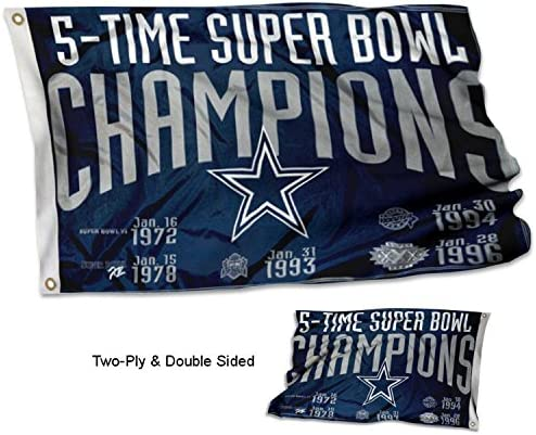 HASTTHOU Championship Flag-Fan Team Banners Sewn 8x2 Foot Banner Championship Flag