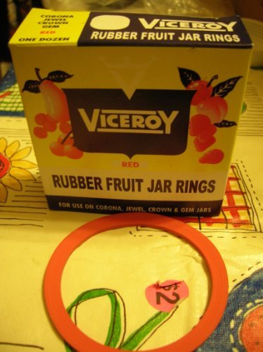 Viceroy Regular clamp Down Canning Jar Rubbers (red) 912000