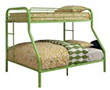 Furniture of America Non-Recycled Metal Bunk Bed, Twin Over Full, Green Review