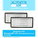 2 High Quality Honeywell Odor Neutralizing Air Purifier Filters, Fit HFD-120-Q Quietclean Tower Air Purifier, Replaces Honeywell IFD Filter, by Think Crucial