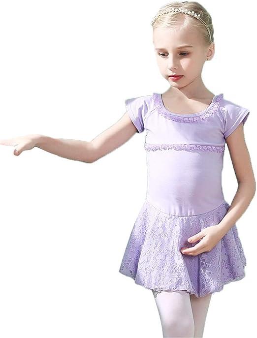 Faldas de danza para niña, Niñas Mangas cortas Encaje floral ...
