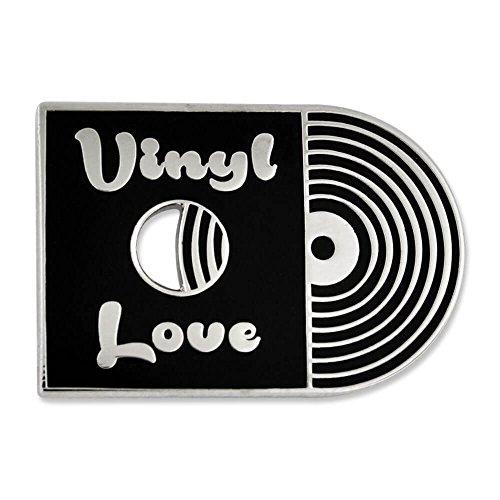 PinMart's Retro Vinyl Love Record Music Trendy Enamel Lapel Pin by PinMart