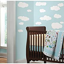 RoomMates RMK1562SCS Clouds Peel and Stick Wall Decals (White)