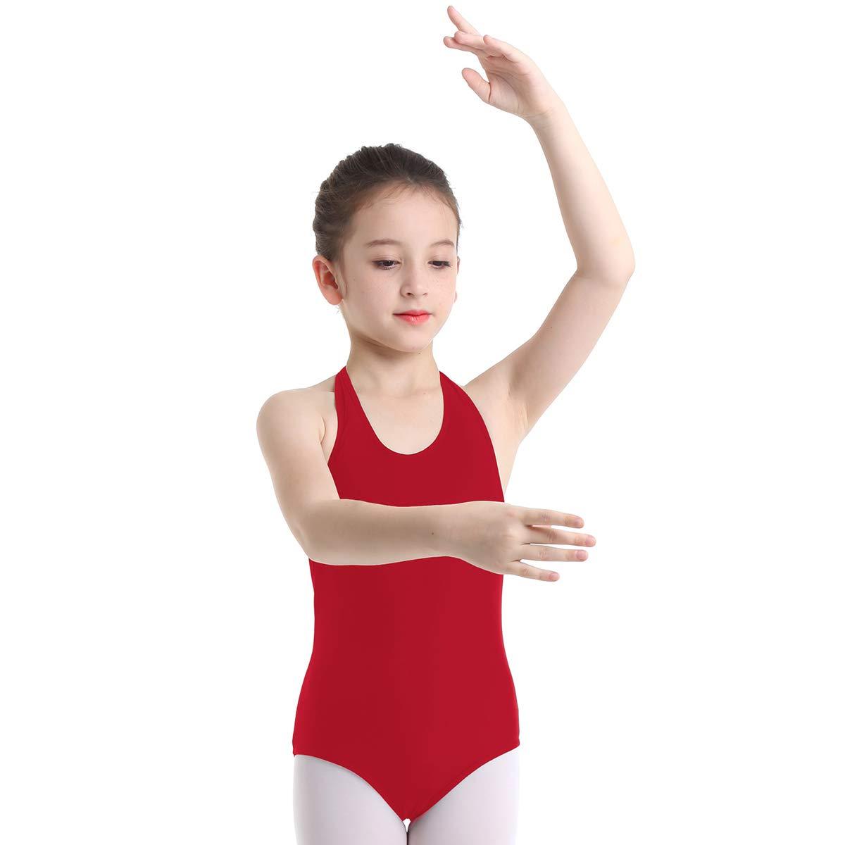 Agoky Maillot de Danza Ballet para Niña Cuello Halter ...