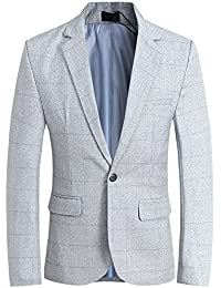 Mens One Breasted Button Casual Regular Classic Sport Blazer Jacket Sportcoat