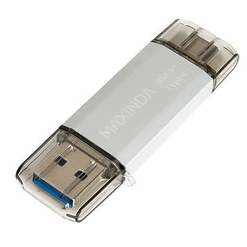 MAXINDA 16GB Pendrive / Memoria USB 3.1 OTG Type C (Tipo C) con Carcasa Aluminio y Elegante para Android Smartphone con la Interfaz Type-C y ...
