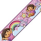 Nickelodeon Dora the Explorer Rainbow Self Stick Wall Border