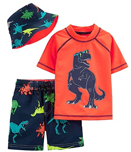 (Carter's Boys' Rashguard Sets (Colorful Dino, 3T))