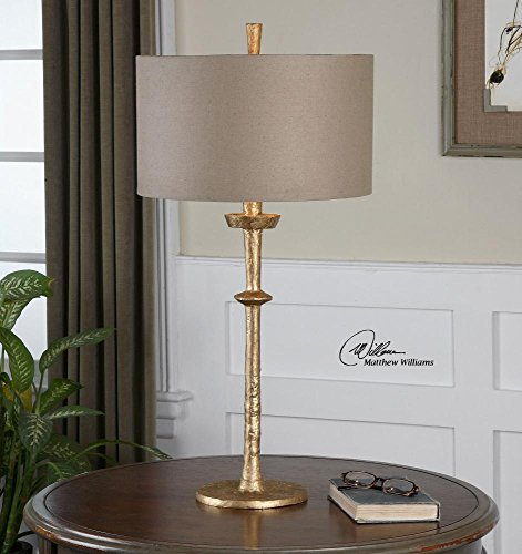 Uttermost 26188 Heraclius One Light Gold Table Lamp -