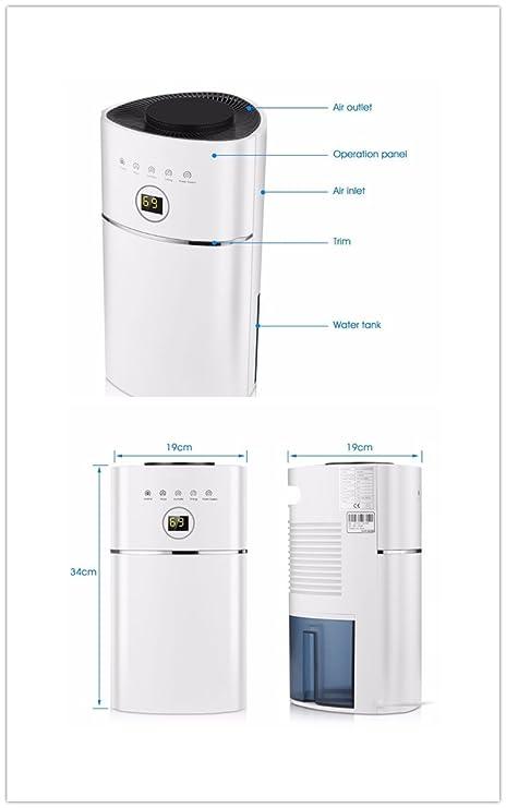 2.4L Digitale Luftentfeuchter Luftreinigung, UV-Sterilisation ...