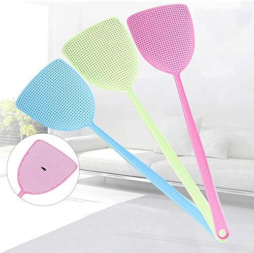 Aiyow Sommer Plastikfliegenklatsche Mückenklatsche langlebiges Netz mit langem Griff manuelle Wischklatsche Mückenklatsche.Grün / 2