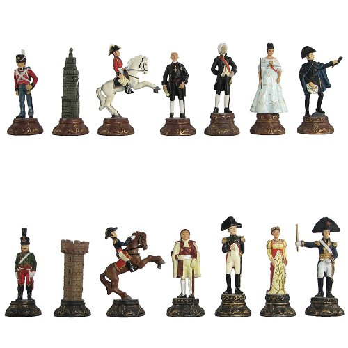Battle of Waterloo Hand Painted Polystone Chess Pieces ()