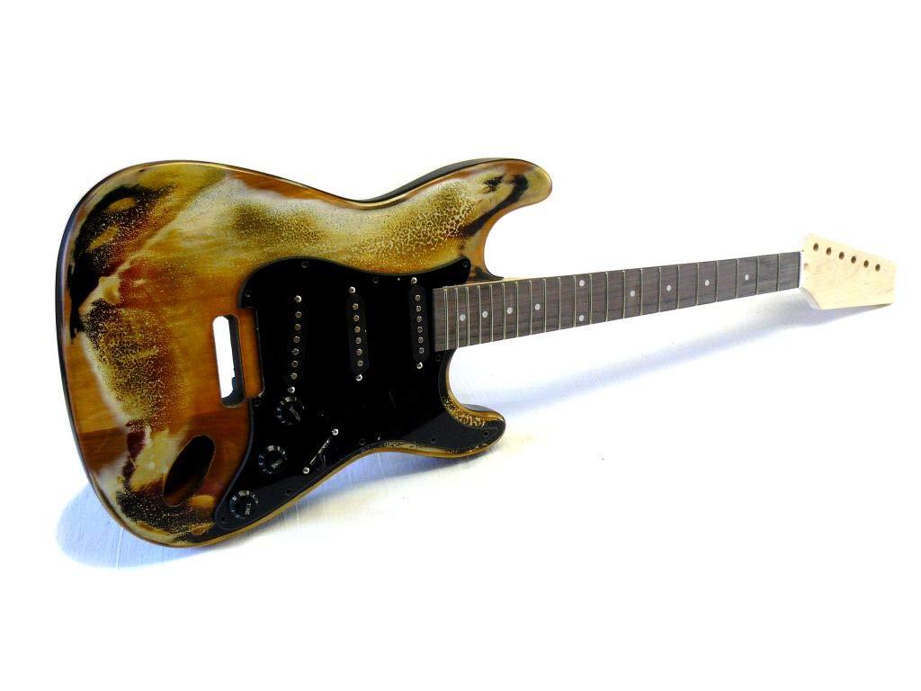 Kit de guitarra eléctrica ML-Factory® MLS aged Sunburst P: Amazon ...