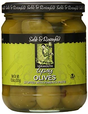 Sable & Rosenfeld Tipsy Olives, Vermouth, 10.6 Ounce by Sable & Rosenfeld