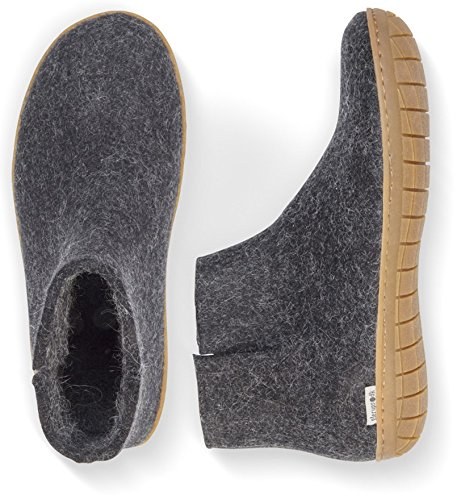 Glerups Unisex Model Gr Charcoal Slipper - 38