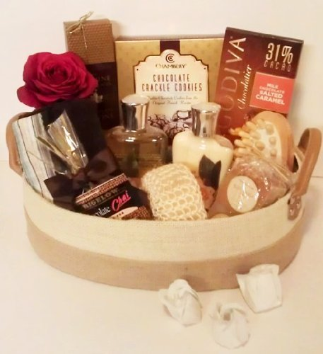 Luxury Spa Gift Basket with Chocolate & Godiva