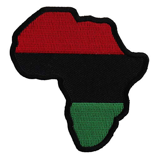 African Map Patch - 3x3 inch. Embroidered Iron on Patch