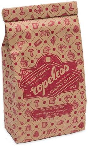 Ropeless Chunky Chalk - 255g Kreide Premium Qualität - nachhaltige plastikfreie Verpackung - Bouldern Klettern Crossfit Fitness Calisthenics ausgezeichneter Grip - sehr ergiebig