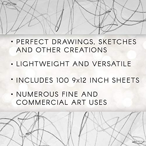 """Darice 9""""x12"""" Artist's Tracing Paper, 100 Sheets – Translucent Tracing Paper for Pencil, Marker and Ink, Lightweight, Medium Surface (97490-3) - 5-Pack by Darice (Image #2)"""