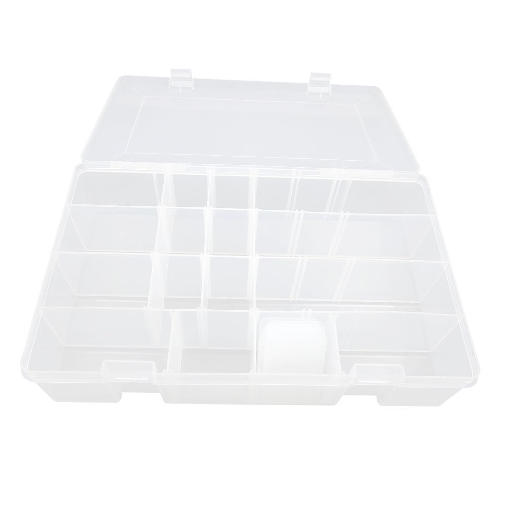 3x BOX315 Clear Beads Tackle Box Fishing Lure Jewelry Nail Art Small Parts Display Plastic transparent Case Storage Organizer Containers kisten boxen boite