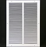 12''w X 18''h Steel Return Air Grilles - Sidewall and Cieling - HVAC DUCT COVER - White [Outer Dimensions: 13.75''w X 19.75''h]