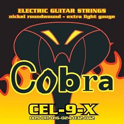 Traje Juego de cuerdas guitarra eléctrica Cobra 09 42 cel-9-x