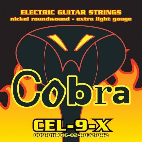 Traje Juego de cuerdas guitarra eléctrica Cobra 09 42 cel-9-x: Amazon.es: Instrumentos musicales