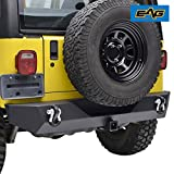 #7: EAG 87-06 Jeep Wrangler TJ YJ Black Textured Off Road Rear Bumper With 2