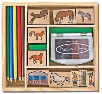 Doug Horses Stamp Set - 7 Pack MELISSA & DOUG HORSES STAMP SET