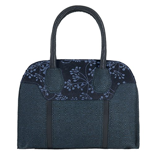 LADIES RUBY SHOO CANCUN NAVY BLUE TWEED VEGAN FRIENDLY HANDBAG